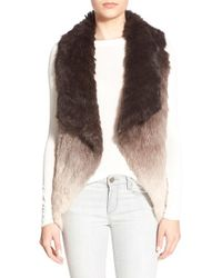 La Fiorentina | Natural Ombré Rabbit-Fur Vest | Lyst