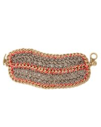 The Sak | Pink Metal Works Wide Crochet Toggle Bracelet | Lyst