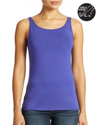 Lord & Taylor | Blue Plus Iconic Fit Slimming Tank Top | Lyst