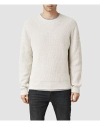 AllSaints | Natural Karser Crew Sweater Usa Usa for Men | Lyst