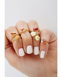 Forever 21 | Orange Jane'S Tiny Things Sushi And Sashimi Midi Ring | Lyst