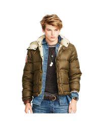 Denim & Supply Ralph Lauren Green Quilted Ripstop Down Jacket for men