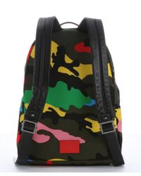 Valentino - Green And Black Camouflage Nylon Backpack for Men - Lyst