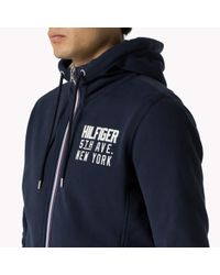 Tommy Hilfiger | Blue Cotton Blend Hoody for Men | Lyst