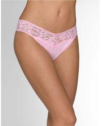 Hanky Panky | Pink Logo Thong | Lyst