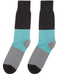 Paul Smith | Blue And Grey Striped Socks for Men | Lyst