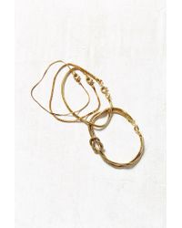 Urban Outfitters - Metallic Laura Layering Chain Bracelet Set - Lyst