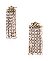 BaubleBar | Metallic 'temptation' Drop Earrings - Champagne/ Antique Gold | Lyst