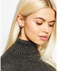 Monki | Metallic Circular 2 Pack Earrings | Lyst