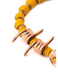 Vivienne Westwood - Yellow Wire Detail Bracelet - Lyst