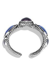 David Yurman | Blue Ultramarine Cuff With Black Orchid, Lapis Lazuli, And Gray Sapphires | Lyst