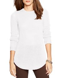Lauren by Ralph Lauren | White Crewneck Sweater | Lyst