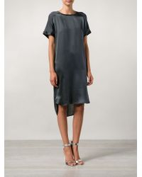 By Malene Birger - Blue Short Sleeve Shift Dress - Lyst