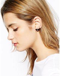 Tatty Devine - Black Magpie Stud Earrings - Lyst