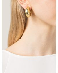 Vaubel | Metallic Flat Hoop Clip Earrings | Lyst