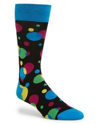 Bugatchi | Blue Dot Pattern Cotton Blend Socks for Men | Lyst