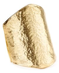 Kenneth Jay Lane | Metallic Hammered Cuff | Lyst