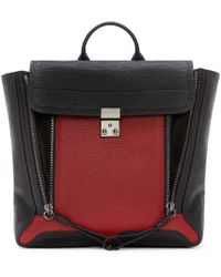 3.1 Phillip Lim | Red Black And Crimson Leather Pashli Backpack | Lyst
