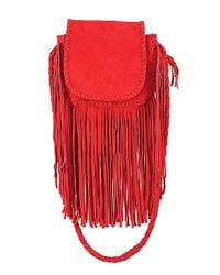 Jennifer Haley - Red Micro Mini Bohemian - Lyst