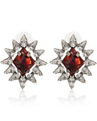 DANNIJO | Red Silver-Plated Neva Siam Italian Earrings | Lyst
