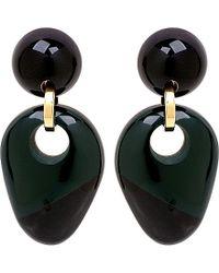 Marni - Green Colour-block Resin Clip-on Earrings - Lyst