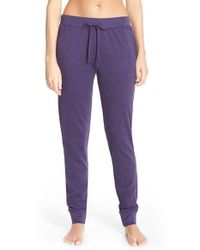 Lauren by Ralph Lauren | Purple Cotton Blend Pajama Pants | Lyst