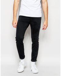 DIESEL - Jeans Stickker 844v Super Skinny Stretch Soft Black for Men - Lyst
