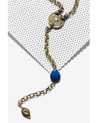Nasty Gal | Metallic Carmen Lariat Necklace | Lyst