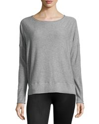 Vince - Gray Long-sleeve Slub-knit Sweater - Lyst