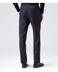 Reiss - Blue Snowdon T Flecked Modern Trousers for Men - Lyst