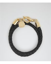 Reiss | Black Toucan Leather And Metal Bracelet | Lyst