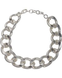 Kenneth Jay Lane - Metallic Oversize Silver Curb Chain Necklace - Lyst