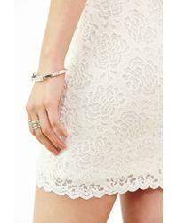 Kimchi Blue - White Spaghetti-strap Bodycon Lace Dress - Lyst