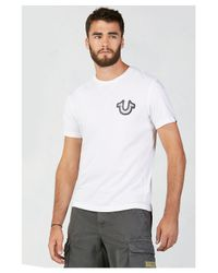 True Religion | White Flatlock Mens T-shirt for Men | Lyst