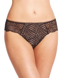 Chantelle | Black Illusion Lace Tanga | Lyst