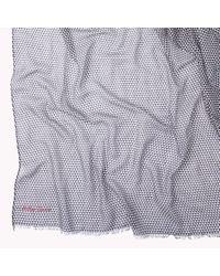 Tommy Hilfiger - Gray Printed Scarf - Lyst