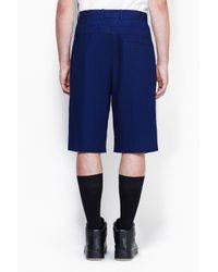3.1 Phillip Lim - Blue Double Waisted Single Pleat Short for Men - Lyst