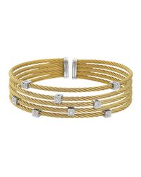 Charriol - Metallic Fiverow Squarestation Cable Bracelet - Lyst