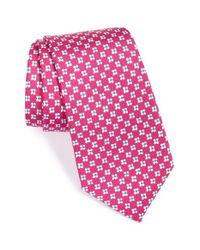 Psycho Bunny - Pink Floral Silk Tie for Men - Lyst