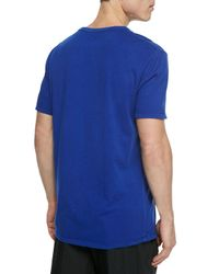 T By Alexander Wang | Blue Short-Sleeve Crew-Neck Jersey T-Shirt for Men | Lyst