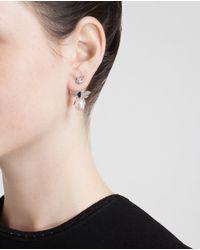 Yvonne Léon - White 18k Gold, Diamond, Pearl And Ruby Bee Earring - Lyst