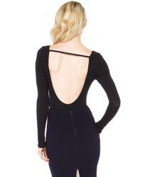 AKIRA - Simple Little Ribbed Black Bodysuit - Lyst