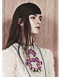 Kirsty Ward | Purple Lavender & Green Statement Necklace | Lyst