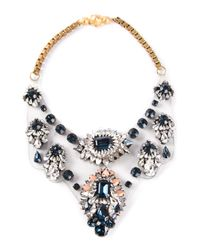 Shourouk | Black 'fifi' Bib Necklace | Lyst