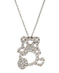 Roberto Coin | Metallic 18k Diamond Panda Pendant Necklace | Lyst