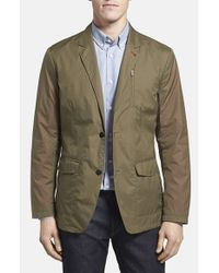 Victorinox - Green 'paper Touch' Tailored Fit Water Repellent Blazer for Men - Lyst