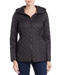 Laundry by Shelli Segal | Black Quilted Zip-front Jacket | Lyst