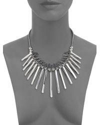 ABS By Allen Schwartz - Metallic Triangle Bib Necklace - Lyst