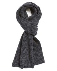 Vince | Blue Ribbed & Marled Cashmere Scarf for Men | Lyst