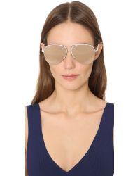 Victoria Beckham - Pink Classic Aviator Sunglasses - Lyst